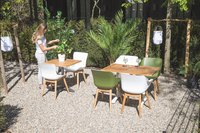 Hartman table de jardin Bistro blanc L 110 x Lg 70 cm-Image 4
