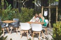 Hartman table de jardin Bistro blanc L 110 x Lg 70 cm-Image 5