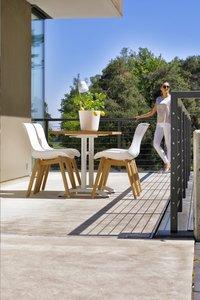 Hartman table de jardin Bistro blanc L 110 x Lg 70 cm-Image 6