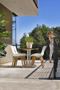 Hartman table de jardin Bistro blanc L 110 x Lg 70 cm-Image 7