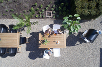 Hartman table de jardin Bistro blanc L 110 x Lg 70 cm-Image 8