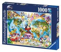 Ravensburger puzzel Disney's wereldkaart