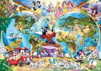 Ravensburger puzzel Disney's wereldkaart-Vooraanzicht