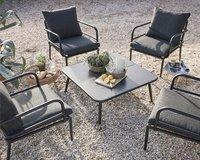 Ensemble Lounge Como noir-Image 2