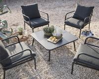 Chaise lounge Como noir-Image 2