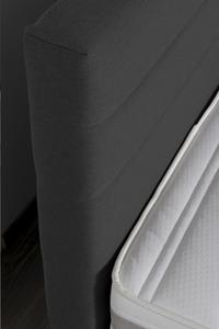 Vaste boxspring Charles meubelstof antraciet 140 x 200 cm-Artikeldetail
