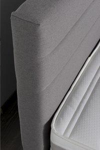 Boxspring fixe Charles tissu d'ameublement gris clair 140 x 200 cm-Détail de l'article