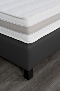 Boxspring fixe Charles aspect cuir anthracite 180 x 200 cm-Détail de l'article