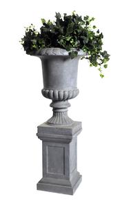 MCollections Socle pour vase style français gris-Image 1