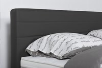 Boxspring fixe Charles aspect cuir anthracite 160 x 200 cm-Détail de l'article