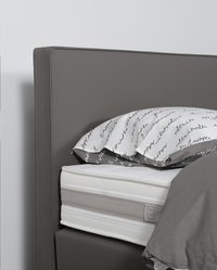 Boxspring fixe Winston aspect cuir taupe 180 x 200 cm-Détail de l'article