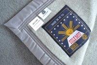 Sole Mio Couverture en laine 500 gris/gris clair-Détail de l'article