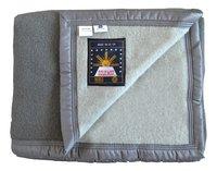 Sole Mio Couverture en laine 500 gris/gris clair-Avant