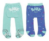 BABY born 2 broekkousen blauw-Vooraanzicht