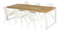 Chaise de jardin Geneva blanc-Image 2