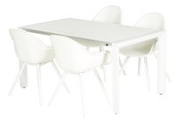 Chaise de jardin Geneva blanc-Image 3