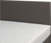 Boxspring fixe Mattie aspect cuir taupe 160 x 200 cm-Détail de l'article