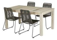 Table de jardin Ulm Grey Wash 160 x 90 cm-Image 1