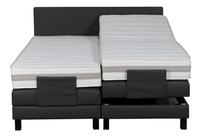 Boxspring électrique President aspect cuir anthracite 180 x 200 cm-Avant