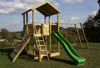 Fox play portique Sacramento Monkey Bar Adventure avec toboggan vert-Image 2