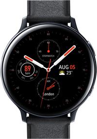 Samsung montre connectée Galaxy Watch Active 2 44 mm Stainless Aqua Black-Avant
