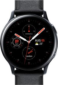 Samsung montre connectée Galaxy Watch Active 2 40 mm Stainless Aqua Black-Avant