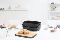 Brabantia Boîte à pain Nic gris foncé-Image 2