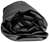 Sleepnight drap-housse anthracite en jersey de coton 160 x 200 cm-Détail de l'article