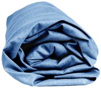 Sleepnight drap-housse bleu en flanelle 140 x 200 cm-Détail de l'article