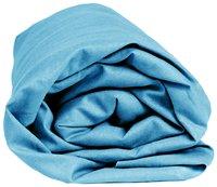 Sleepnight Drap-housse hauteur des coins 25 cm turquoise en flanelle 180 x 200 cm-Détail de l'article