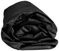 Sleepnight Drap-housse hauteur des coins 25 cm noir en coton 160 x 200 cm-Détail de l'article