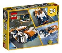 LEGO Creator 3-in-1 31089 Zonsondergang baanracer-Achteraanzicht