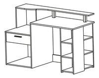 Bureau Oracle B 140 cm wit/antraciet-product 3d drawing