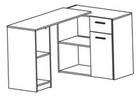 Demeyere Meubles Bureau Open eikdecor-product 3d drawing
