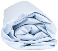 Sleepnight drap-housse bleu clair en coton 90 x 200 cm-Détail de l'article