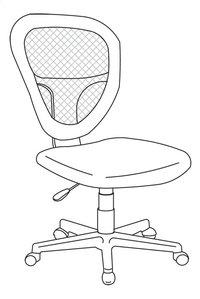 Demeyere Meubles chaise de bureau Radius noir-product 3d drawing