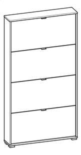 Demeyere Meubles Schoenenkast 4 deuren Perfect wit decor 12 paar schoenen-product 3d drawing