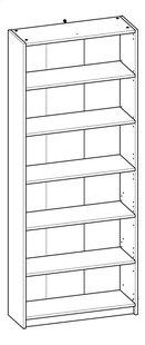 Demeyere Meubles Bibliothèque Optima décor chêne Lg 80,2 x H 198 cm-product 3d drawing