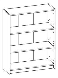 Demeyere Meubles Bibliothèque Optima décor chêne Lg 80,2 x H 101,8 cm-product 3d drawing