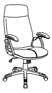Demeyere Meubles Chaise de bureau Taranis noir-product 3d drawing