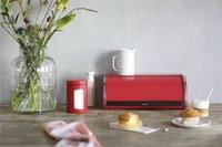 Brabantia broodtrommel met schuifdeksel rood-Afbeelding 1