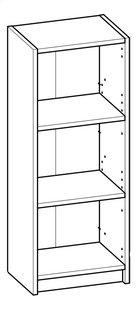 Demeyere Meubles Bibliothèque Optima décor chêne foncé Lg 40,2 x H 101,8 cm-product 3d drawing