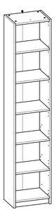 Demeyere Meubles Boekenkast Optima donker eikdecor B 40,2 x H 198 cm-product 3d drawing