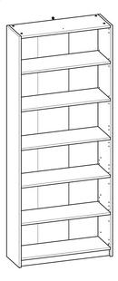 Demeyere Meubles Boekenkast Optima donker eikdecor B 80,2 x H 198 cm-product 3d drawing