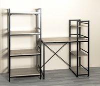 Haku-Möbel bureau Sandro chêne avec étagère-Image 1
