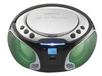 Lenco radio/lecteur CD portable SCD 550 argenté-Image 1