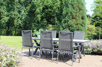 Hartman table de jardin Canterbury gris 247 x 96 cm-Image 1
