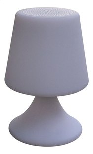Tafellamp met Bluetooth speaker wit
