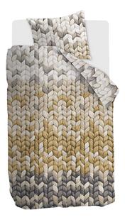 Ariadne at Home Housse de couette Warmly ochre coton 140 x 220 cm-Avant