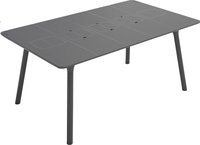 Grosfillex table de jardin Connection anthracite 160 x 100 cm